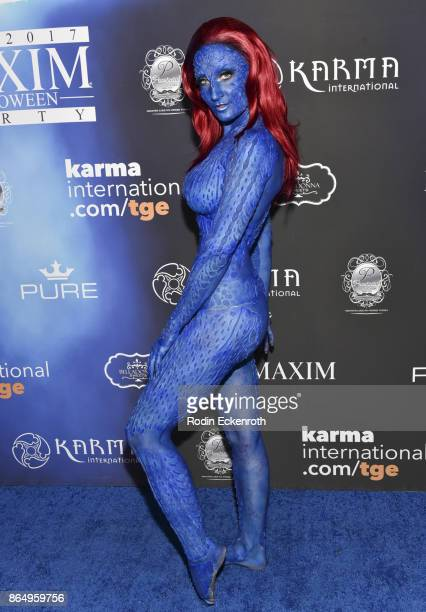 Holly Wolf arrives at the 2017 MAXIM Halloween Party at LA Center Studios on October 21 2017 in Los Angeles California