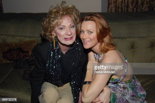 Holly Woodlawn and Angela Featherstone attend Mauricio and Roger Padilha's The Stephen Sprouse Book Launch at The Chateau Marmont on March 10 2009 in...