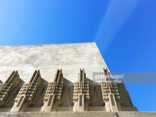hollyhock house by frank lloyd wright - frank lloyd wright stock pictures, royalty-free photos & images