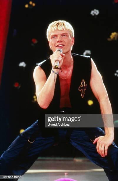 """Hollymünd, Sonntagnachmittags-Show vom WDR-Gelände in Köln-Bocklemünd, Deutschland 1987 - 2001, mit dabei: Band """"Caught in the Act""""(."""
