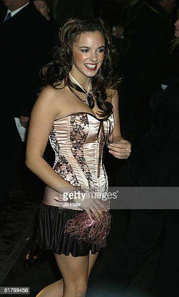 Hollyoaks actress Jodi Albert arrives at the British Academy Children's Film and Television Awards on November 28 2004 at the London Hilton Park Lane...