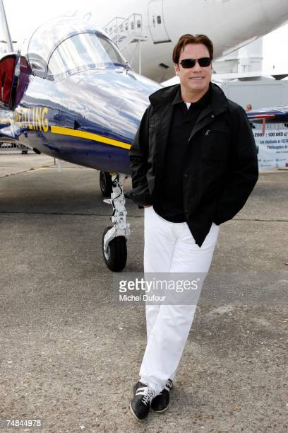 Hollywood actor and pilot John Travolta attends the 47th International Paris Air Show on June 21, 2007 in Le Bourget France. Travolta, invited by...