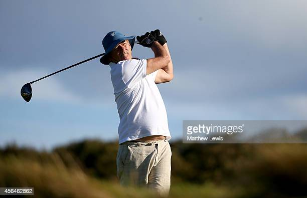 Hollywood actor Bill Murray on the nineth hole during the practice round prior to the 2014 Alfred Dunhill Links Championship at the Kingsbarns Golf...