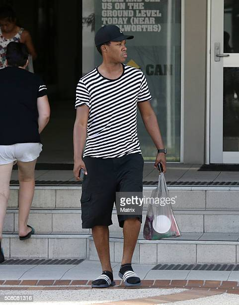 Hollywood actor Corey Hawkins spotted shopping on the Gold Coast on January 24 2016 in Brisbane Australia Corey is in Australia filming King Kong