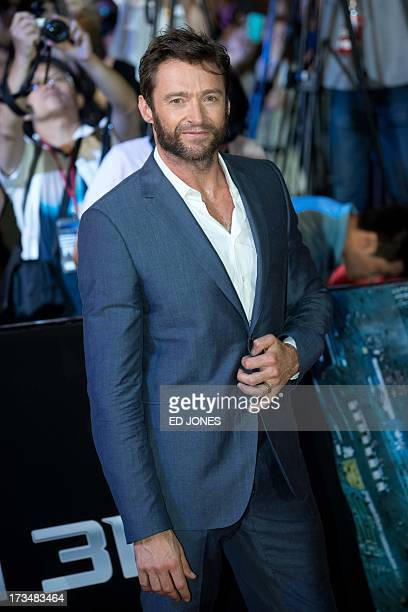 Hollywood actor Hugh Jackman of Australia attends a red carpet event at the premiere of his new film 'Wolverine' in Seoul on July 15 2013 AFP PHOTO /...