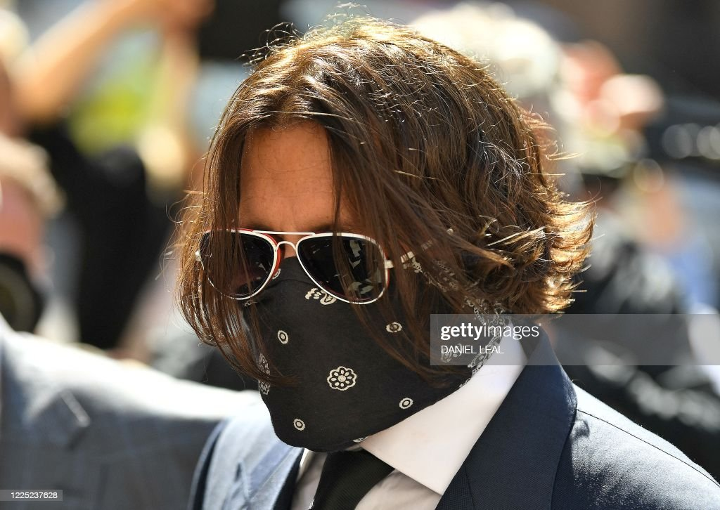 Hollywood Actor Johnny Depp Wearing Ppe Of A Face Mask Or Covering News Photo Getty Images