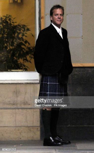 Hollywood actor Kiefer Sutherland at the wedding of his stepdaughter to a Scottish actor The star of Flatliners and cult television series 24 wore a...