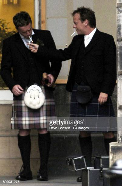 Hollywood actor Kiefer Sutherland at the wedding of his stepdaughter to a young Scottish actor The star of Flatliners and cult television series 24...