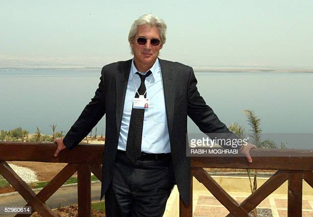 Hollywood actor Richard Gere poses for a picture at the World Economic Forum in the Jordanian Dead Sea resort of Shuneh south of Amman 21 May 2005...