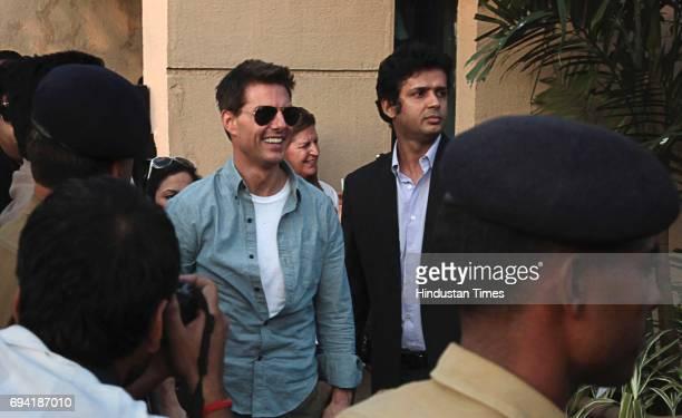Hollywood Actor Tom Cruise and Bollywood Actor Anil Kapoor at Mumbai Airport Kalina VIP Gate on Saturday