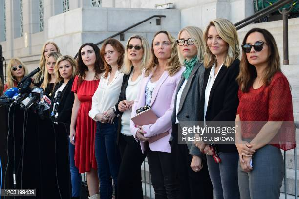 Hollywood actresses and others part of a group of Silence Breakers who have fought for justice by speaking out about Harvey Weinsteins sexual...