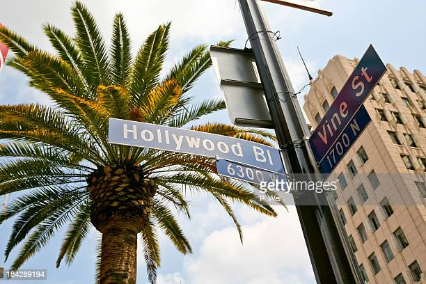 hollywood and vine - hollywood boulevard stock pictures, royalty-free photos & images