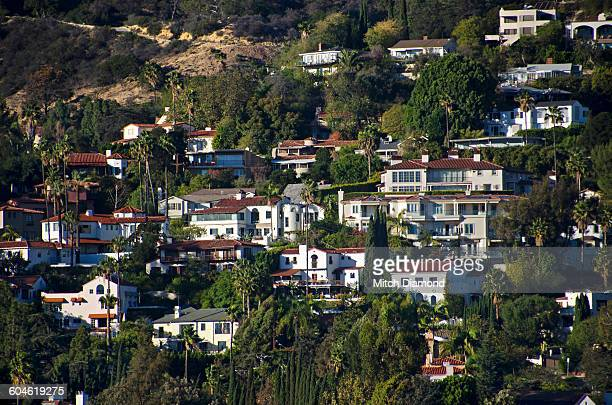 hollywood area - hollywood hills stock pictures, royalty-free photos & images