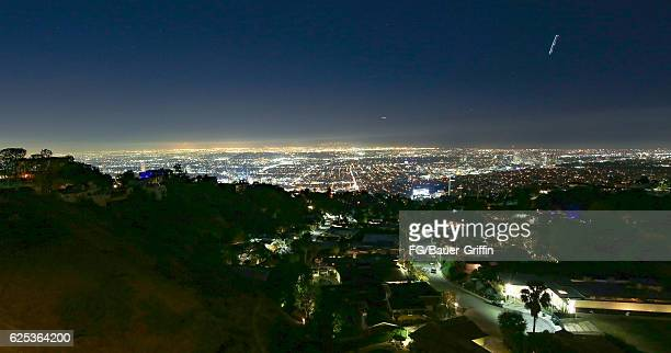 Hollywood at night on November 22 2016 in Los Angeles California