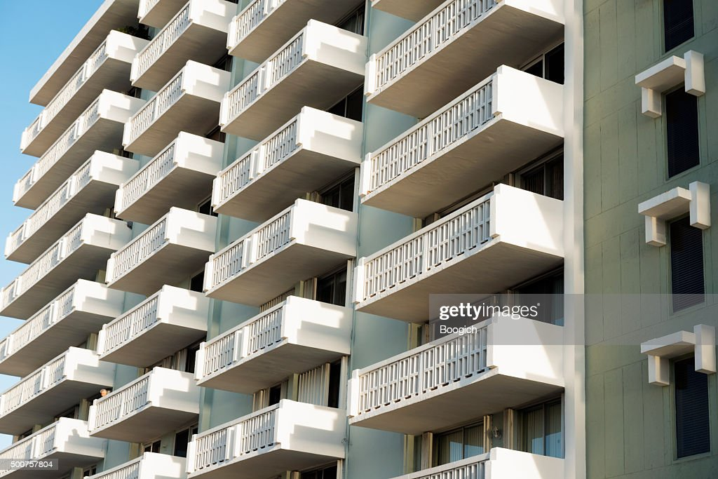 Hollywood Beach Florida Old Fashioned Real Estate Architecture : Stock Photo
