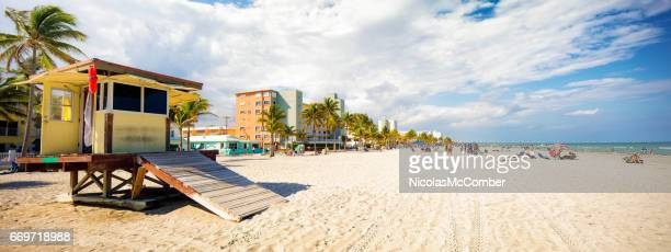 Hollywood beach Florida panoramic landscape sunny Winter day