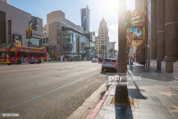Hollywood blvd and walk of fame in Hollywood, Los Angeles
