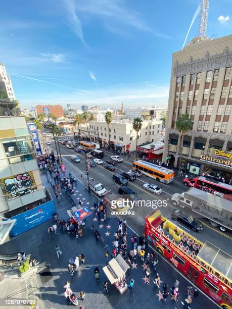 hollywood boulevard de cima, la, eua - usa - fotografias e filmes do acervo