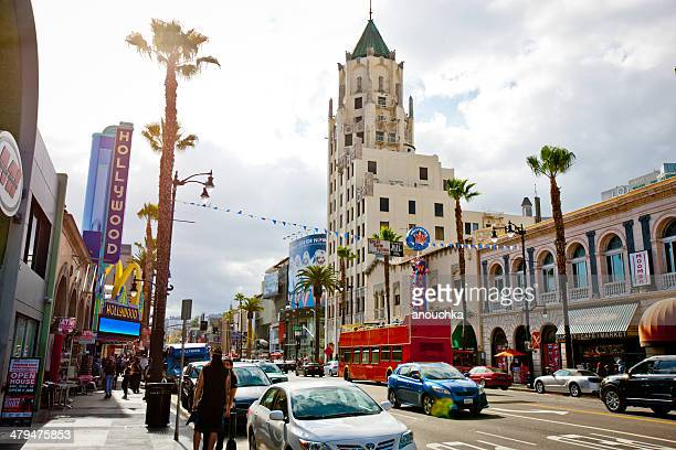 hollywood boulevard, los angeles, california, usa - hollywood boulevard stock pictures, royalty-free photos & images