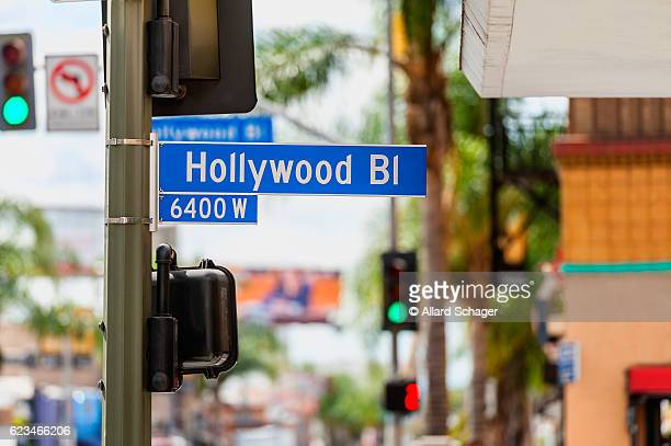 Hollywood Boulevard Road Sign in Los Angeles