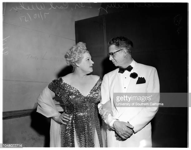 Hollywood Bowl July 10 1951 Mrs Allan HersholtMr Allan HersholtMr and Mrs Karl WeckerDr and Mrs Arthur BerghIda May KobermanTom KeaneMrs Ethel...