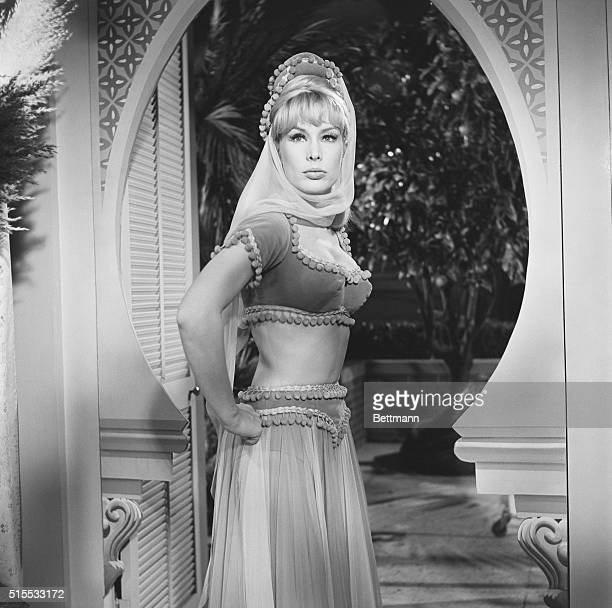 Busy Lady Barbara Eden looks like a Shah's delight on the set of her television series I dream Of Jeannie Barbara is one of the busiest actresses in...