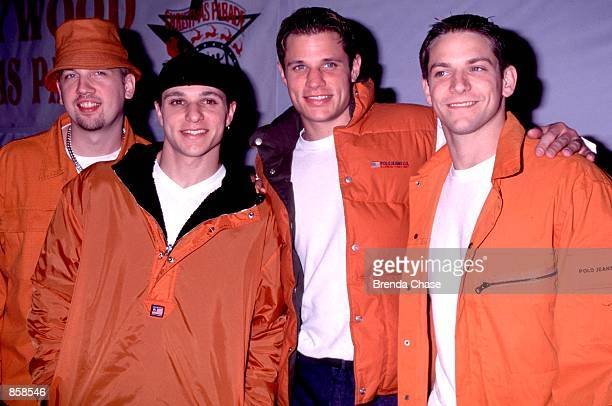 Hollywood CA 98 Degrees attending the Hollywood Christmas Parade Photo by Brenda Chase Online USA Inc