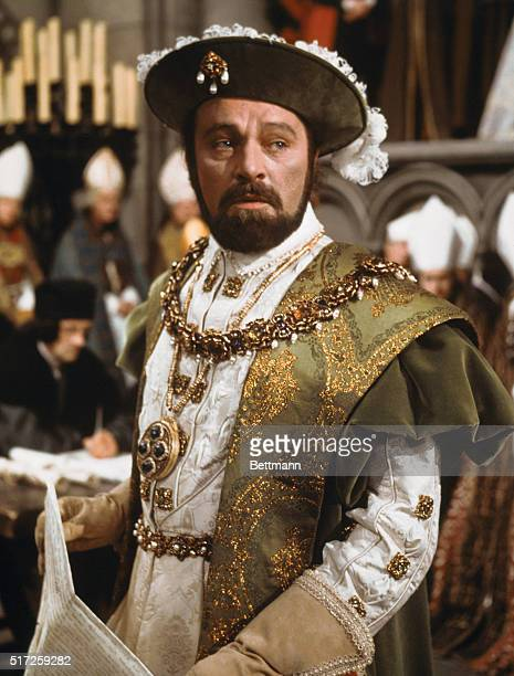 """Hollywood, CA.: Actor Richard Burton, one of five nominees for Academy award's """"best actor of 1969,"""" for his portrayal of King Henry VII in Anne of..."""