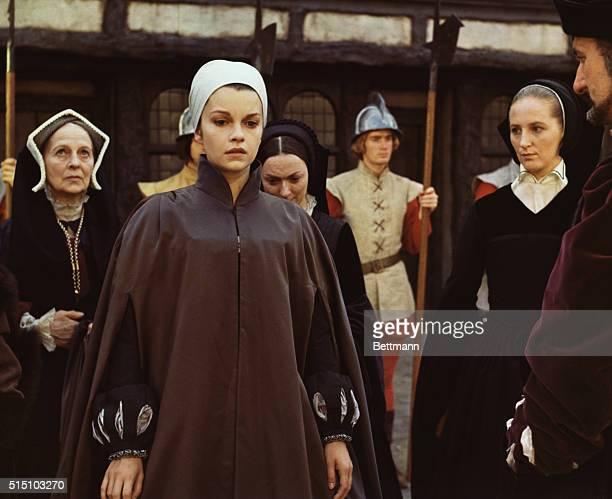 Actress Genevieve Bujold one of five nominees for Hollywood's Academy Award for best actress of 1969 is shown as Anne Boleyn the second wife of King...