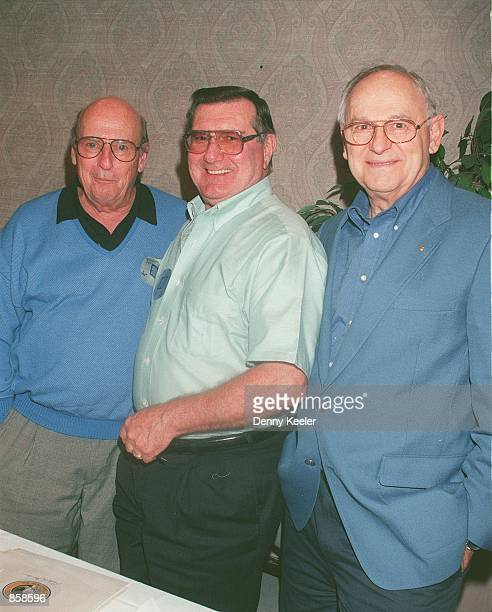 Hollywood CA Apollo 12 astronauts Capt Charles Conrad Jr Richard Francis Gordon Jr and Alan Bean at the Hollywood Collectors and Celebrity Show held...