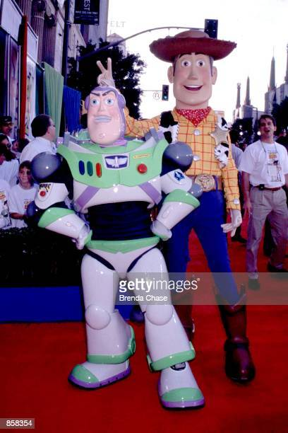 Hollywood CA Buzz Lightyear and Woody at the premiere of Toy Story 2 Photo by Brenda Chase Online USA Inc