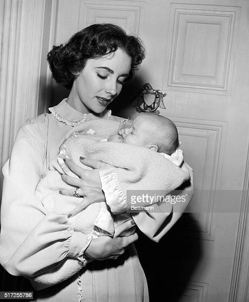 """Hollywood, CA- Film star Elizabeth Taylor becam a mother... In her new film role, """"Father's Little Dividend,"""" a sequel to """"Father of the Bride,""""..."""