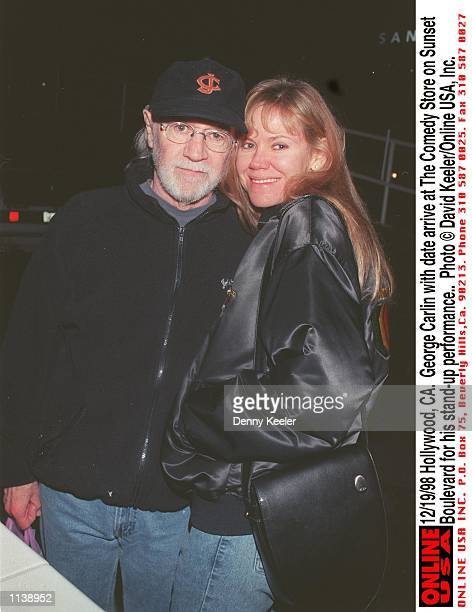 Hollywood, CA. George Carlin with date arrive at The Comedy Store on Sunset Boulevard for his stand-up performance.