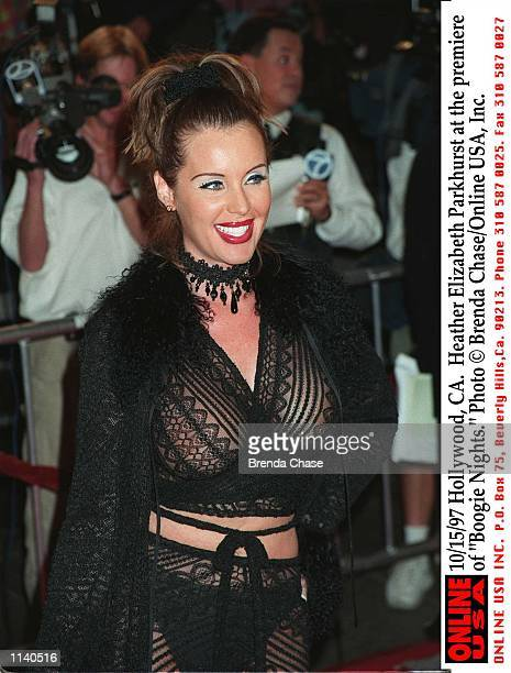 Hollywood CA Heather Elizabeth Parkhurst at the premiere of Boogie Nights