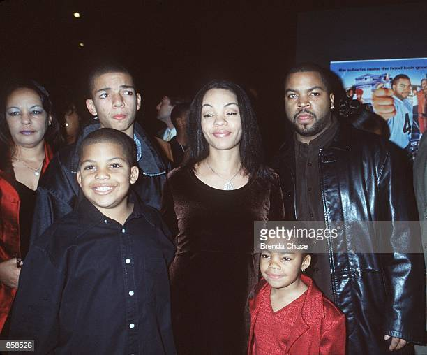 "Hollywood, CA. Ice Cube and family at the premiere of his new movie, ""Next Friday."" Ice Cube wrote and produced the movie. Photo by Brenda Chase..."