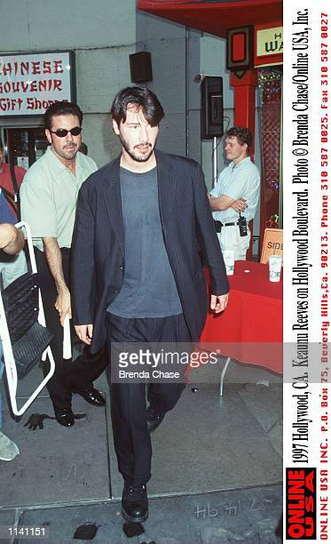 Hollywood CA Keanu Reeves on Hollywood Boulevard