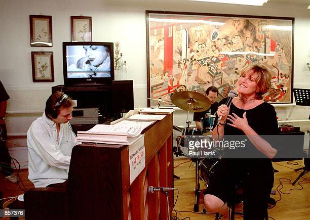 Hollywood CA Lorna Luft with her husband Colin Freeman in the studio working on a musical about her mother Judy Garland's life Photo by Paul...