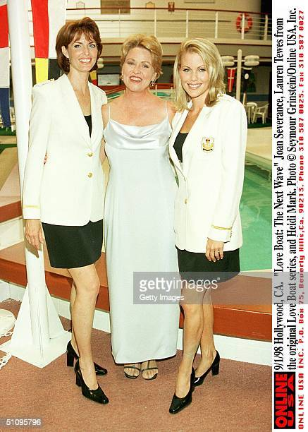 Hollywood Ca Love Boat The Next Wave Joan Severance Former Is Camille Hunter Center Is Lauren Tewes From The Original Love Boat Series And Heidi Mark...