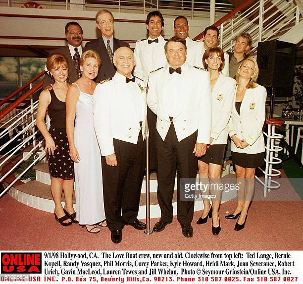Hollywood Ca Love Boat The Next Wave New And Old Cast Clockwise From Top Left Ted Lange Bernie Kopell Randy Vasquez Phil Morris Corey Parker Kyle...