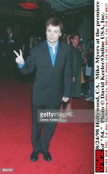 Hollywood CA Mike Myers at the premiere of his new movie 54