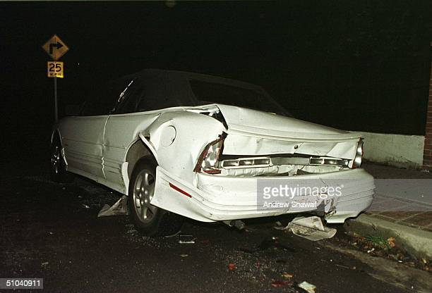 Hollywood Ca One Of The Parked Cars That Jason Priestley Crashed Into His Brand New Silver Porsche Was Badly Damaged In The Accident When He Claimed...