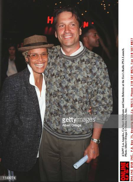 Hollywood Ca Sheri Belafonte and Sam Behrens at the Eco's Radio PSA Launch