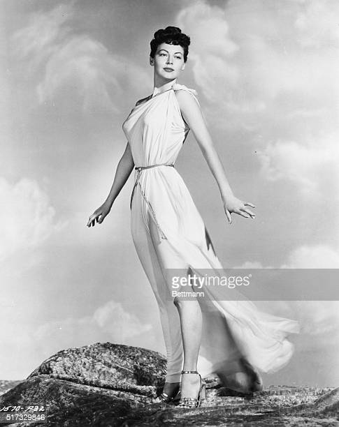 7/20/1948 Hollywood CA The breeze toys with the classic Grecian costume of a modern Venus as she stands high on a Hollywood hilltop Luscious Ava...