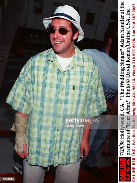 Hollywood CA 'The Wedding Singer' Adam Sandler at the premiere of 'Ever After'