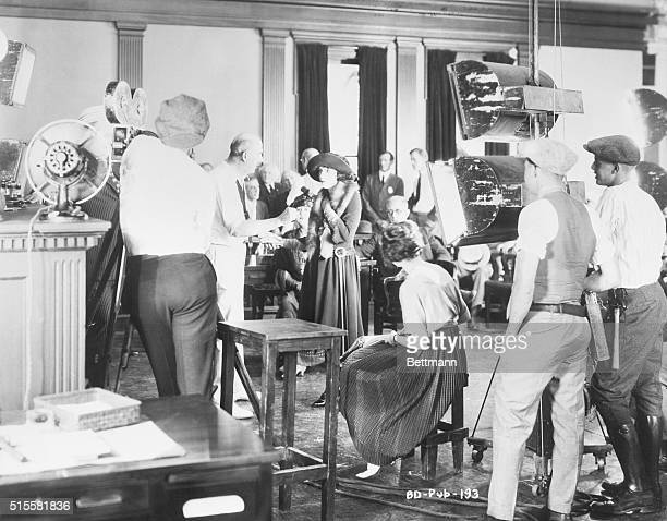 Typical filming scene of the 1920's at Paramount Studio