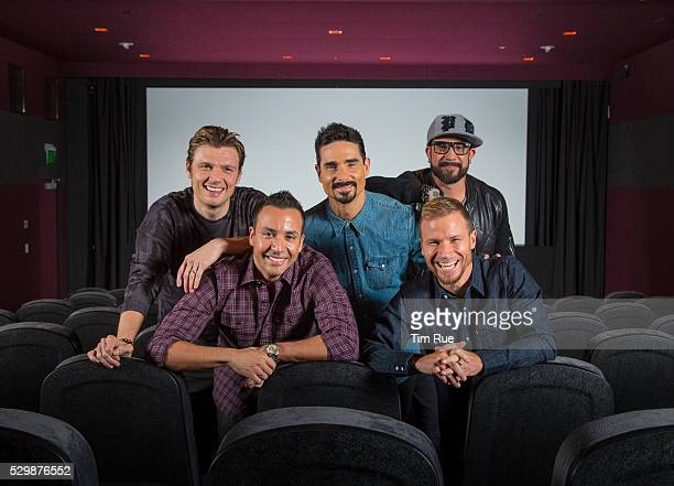 12715 Hollywood CA USA The BACKSTREET BOYS from left Nick Carter Howie Dorough Kevin Richardson Brian Littrell and AJ McLean pictured in the...