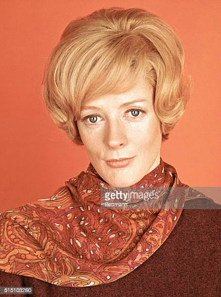 """Hollywood, Calif.: Actress Maggie Smith, one of five """"Oscar"""" nominees for Motion Picture Academy's """"best actress of 1969,"""" shown here in stills from..."""