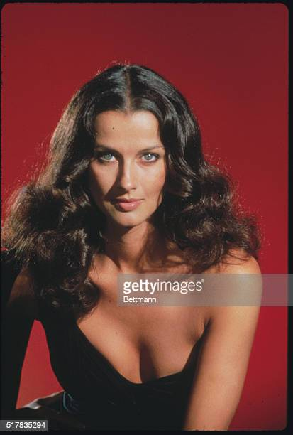Closeup of actress Veronica Hamel