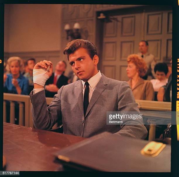 Actor Fabian as he played in ABC TVs Bus Stop as a psychopathic killer he is seen here in a courtroom scene