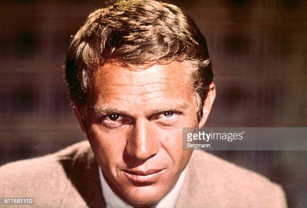 Closeup of actor Steve McQueen Filed 3/1966